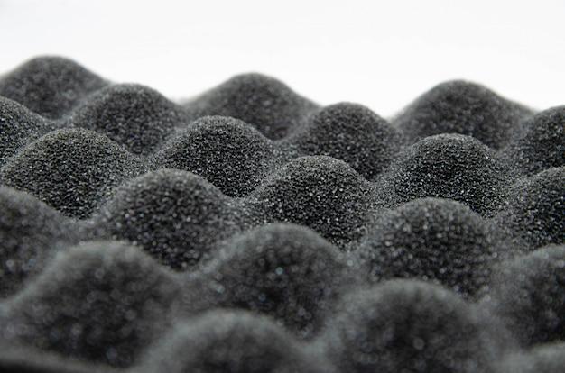 Schuim rubber. professionele geluidsisolatie voor audio- en video-opnamestudio's. geluiddichte paralon, in macro. geluidsisolerende textuurachtergrond voor studio