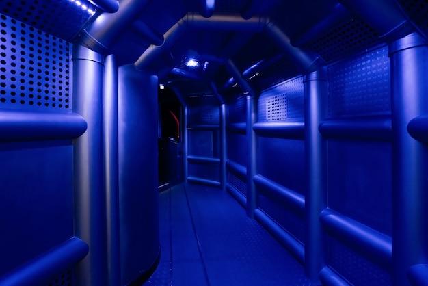 Sci-fi scènes, metalen kanalen in ruimtevaartuigen