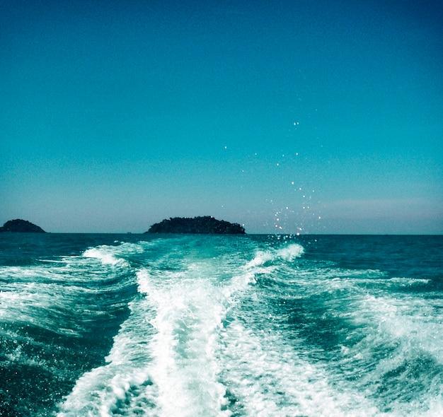 Sea ocean clean deep bottom aqua turquoise concept