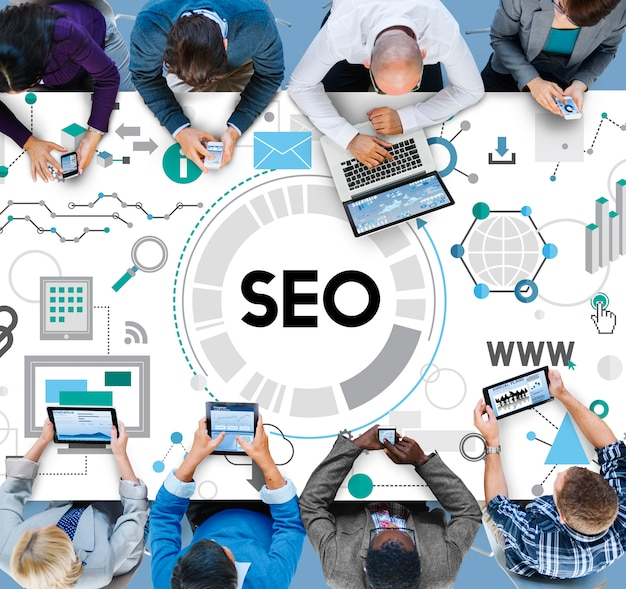 Search engine optimizing seo browsing concept