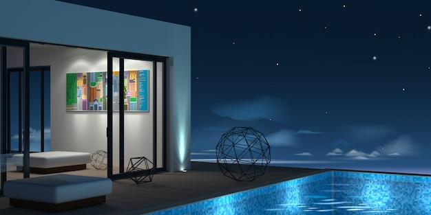 Seaside villa met zwembad
