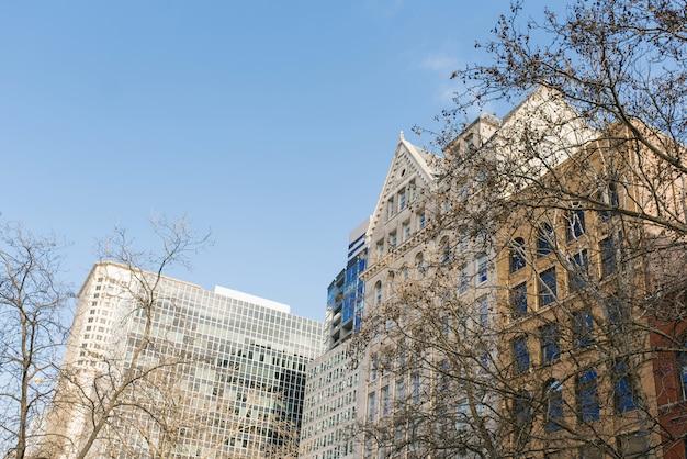 Seattle, washington, vs. gebouwen in het pioniersplein