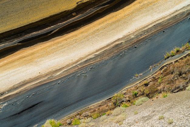 Segment van een heuvel op de vulkaan teide.