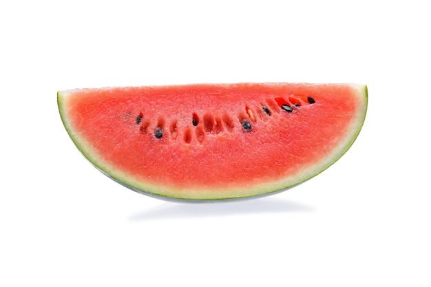 Segment van watermeloen geïsoleerd op wit