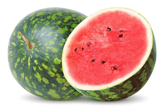 Segment van watermeloen op witte achtergrond