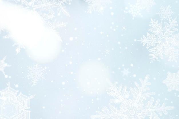 Seizoensgroeten sneeuwvlok frame, remix van fotografie door wilson bentley