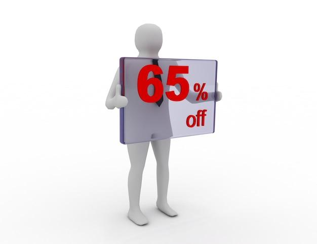 Seizoensverkoop 65 procent korting voor winkelkorting