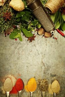 Selectie kruiden en specerijen
