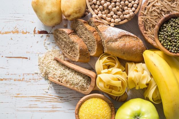 Selectie van comptex koolhydratenbronnen