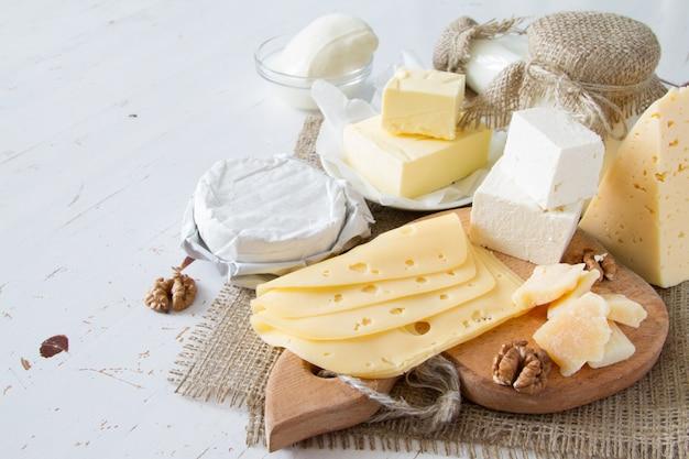 Selectie van melk en zuivelproducten
