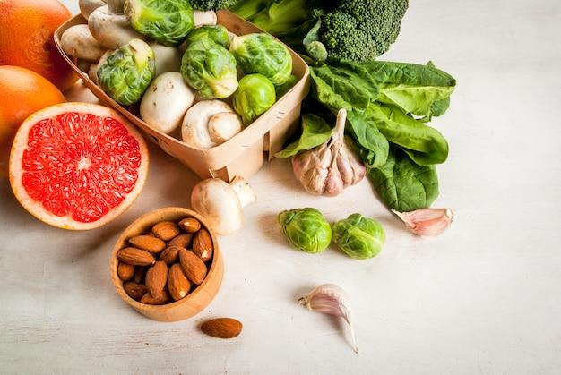 Selectie van producten om de gezondheid en immuniteit te verbeteren