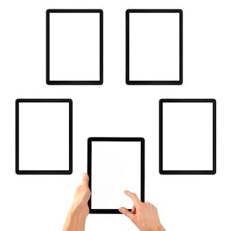 Selectie van recreatie op de tablet