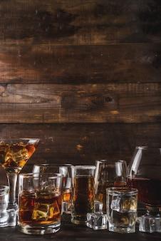 Selectie van sterke, sterke alcoholische dranken