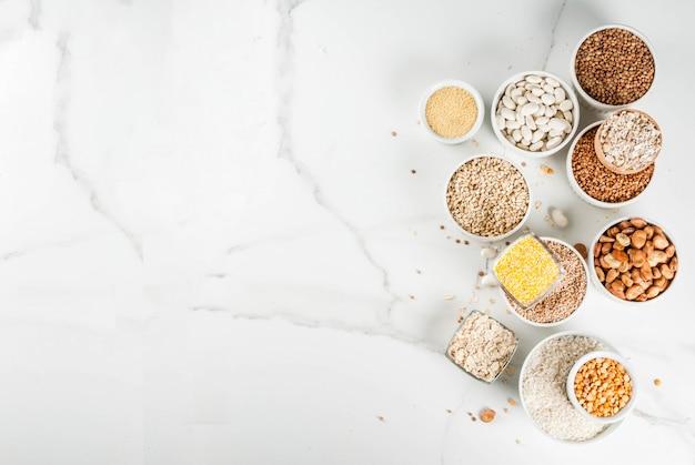 Selectie van verschillende soorten granen granen