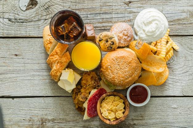 Selectie van voedsel dat slecht is voor uw gezondheid