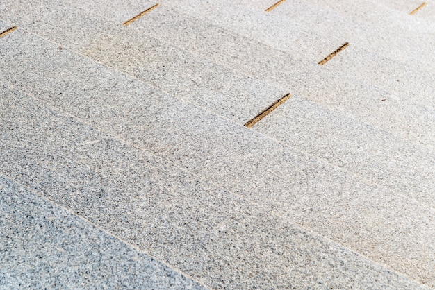 Selectieve aandacht en close-up van stenen trappen