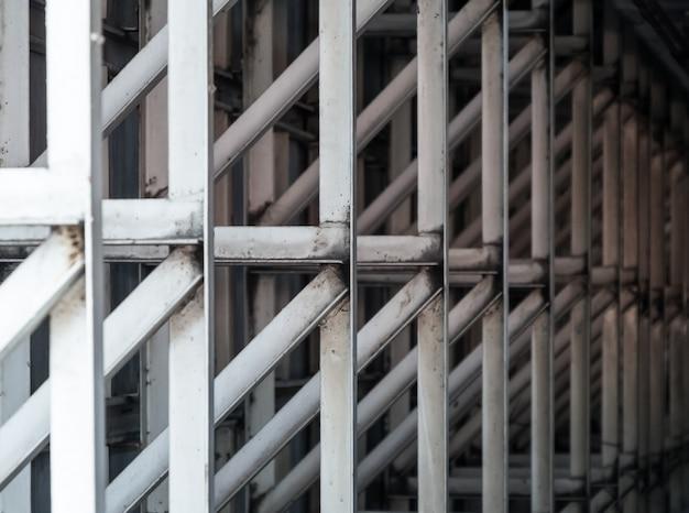 Selectieve focus van de metalen structuur.