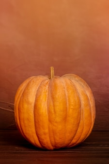 Selectieve focus van halloween-pompoen. pompoen fotografie.
