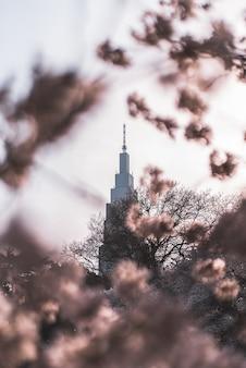Selectieve focus van torenbouw