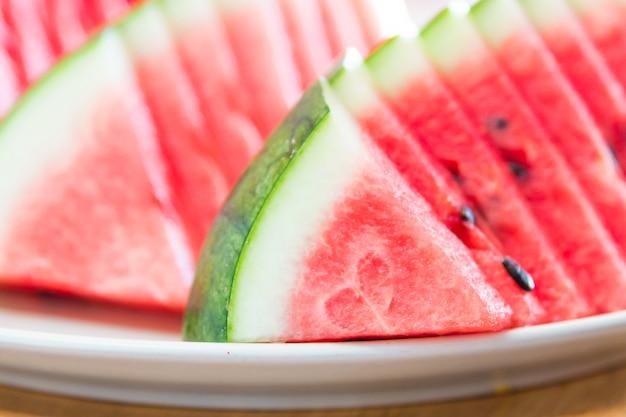 Selectieve focus watermeloen slice