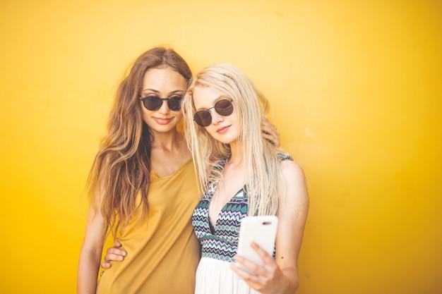 Selfie met een vriend