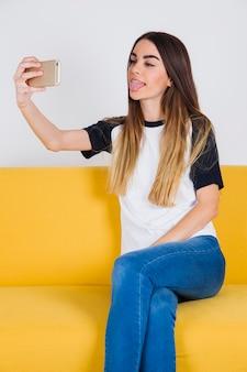 Selfie tonen tong
