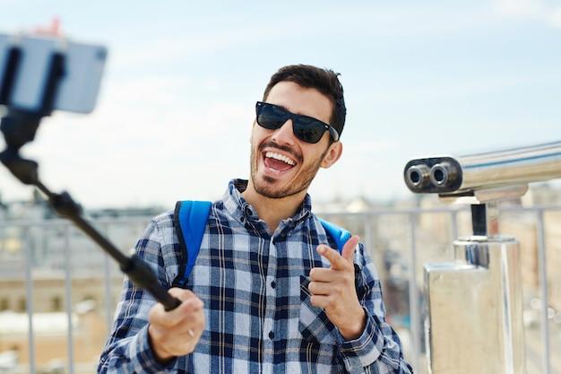 Selfie van reiziger