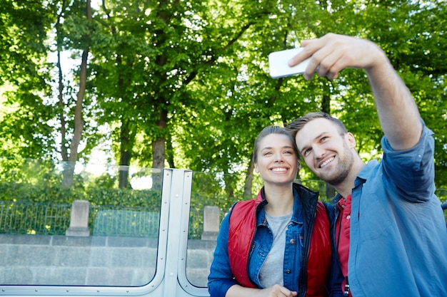 Selfie van reizigers