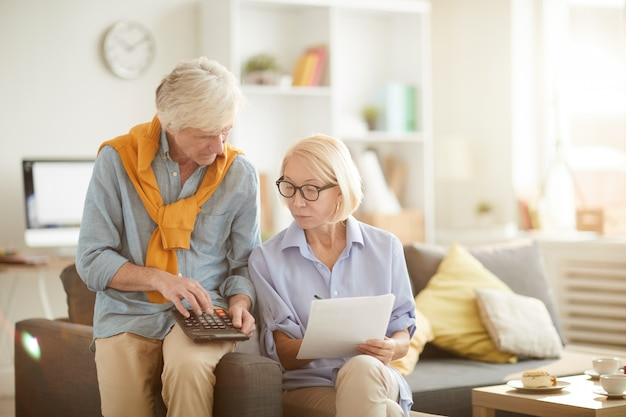 Senior paar berekening begroting