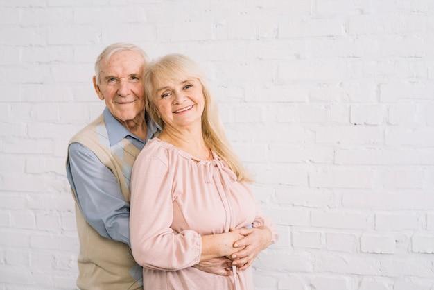 Senior verliefde paar