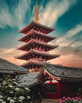Sensō-ji, de een oude boeddhistische tempel in asakusa, tokio