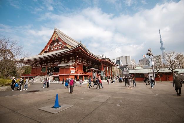 Senso-ji-tempel, beroemde tempel in tokyo, japan.