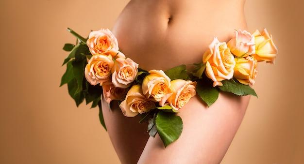 Sensueel meisje. gynaecologie en ondergoed, de gezondheid van vrouwen. ziekten