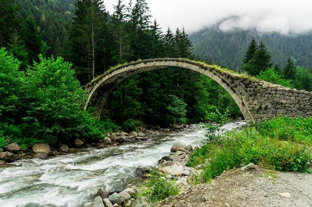 Senyuva-brug over de firtina-rivier in noord-turkije