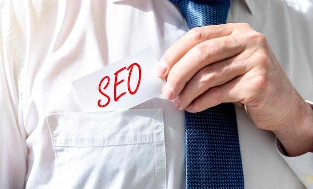 Seo-acroniem, zoekmachineoptimalisatie voor zakelijke promotie.