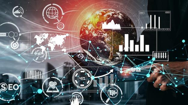 Seo search engine optimization bedrijfsconceptueel