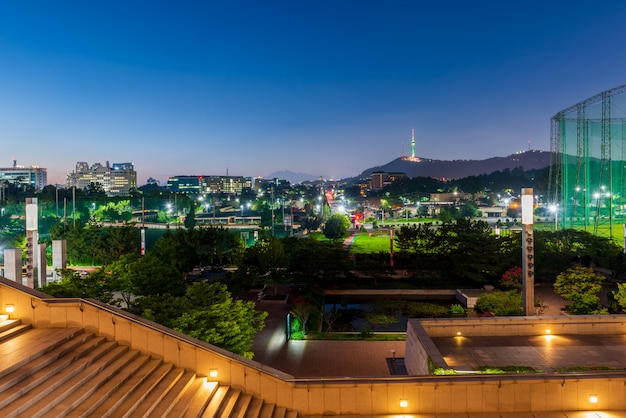 Seoul skyline van de stad