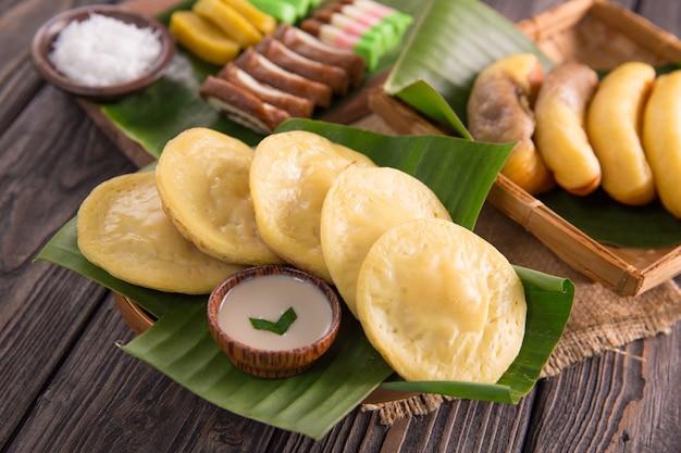 Serabi. indonesische pannenkoek