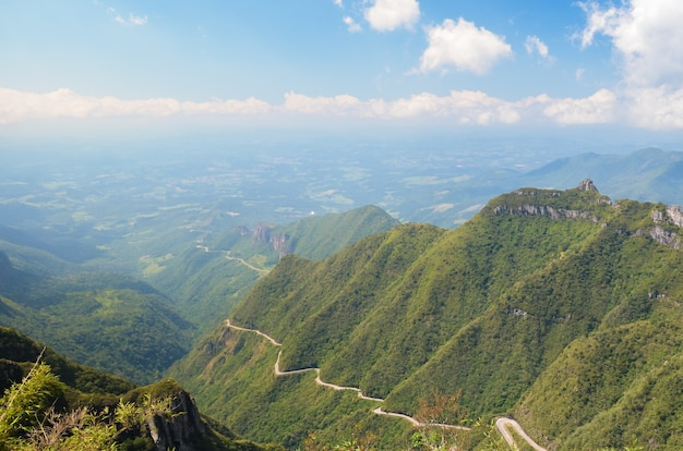 Serra do rio do rastro route sierra van de wandelroute rivier santa catarina brazilië