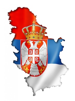 Servische vlag kaart