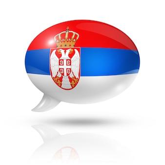 Servische vlag tekstballon