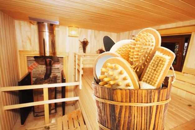 Set badaccessoires in sauna