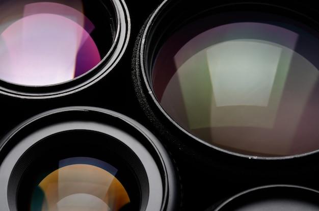 Set cameralens verschillende maten en kleuren