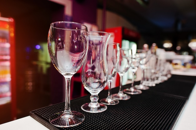 Set collectie cup glazen voor bar drankjes