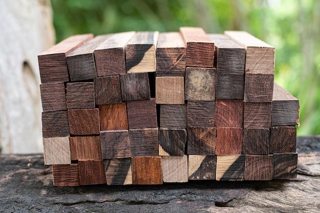Set exotisch hout natuur voor blanco pen en sieraden
