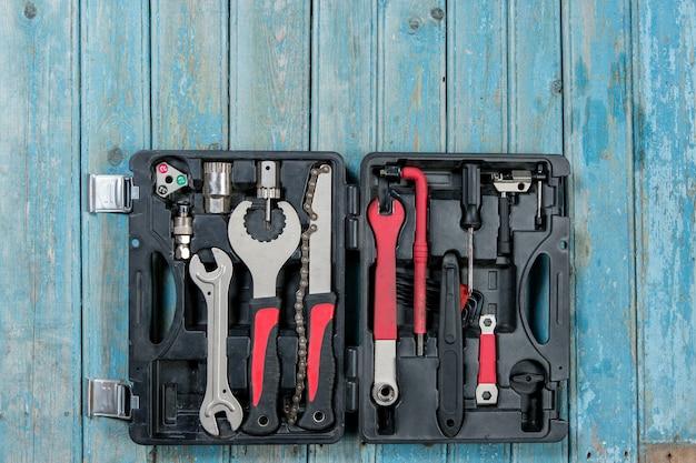 Set fietsgereedschap, gereedschapskistenservice
