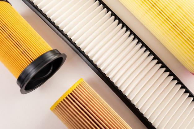 Set filters voor auto en vrachtwagen, lucht, brandstof, olie en olie