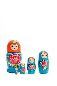 Set houten russische poppetjes van 5 stuks