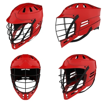 Set klassieke lacrossehelmen