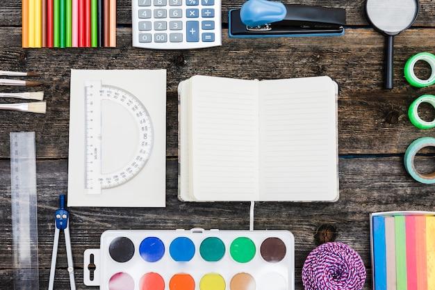 Set met notebook en briefpapier